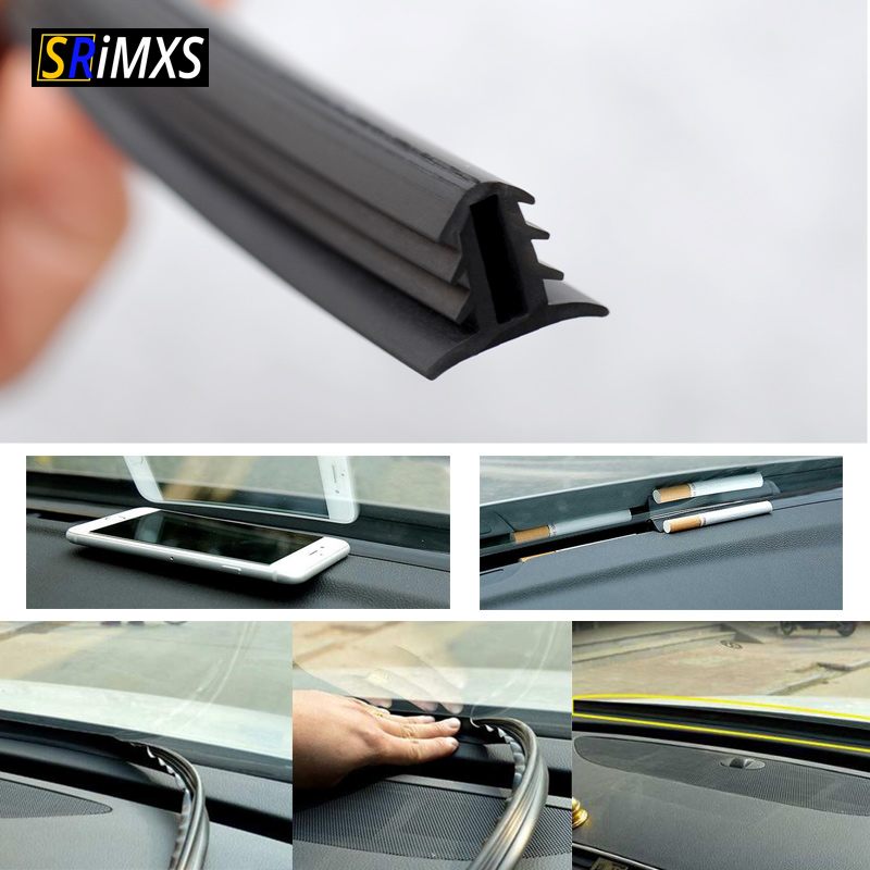 160cm Universal Car Windshield Sealant Dashboard Soundproof Rubber Seal Strip Auto Rubber Seals Car Panel Seal