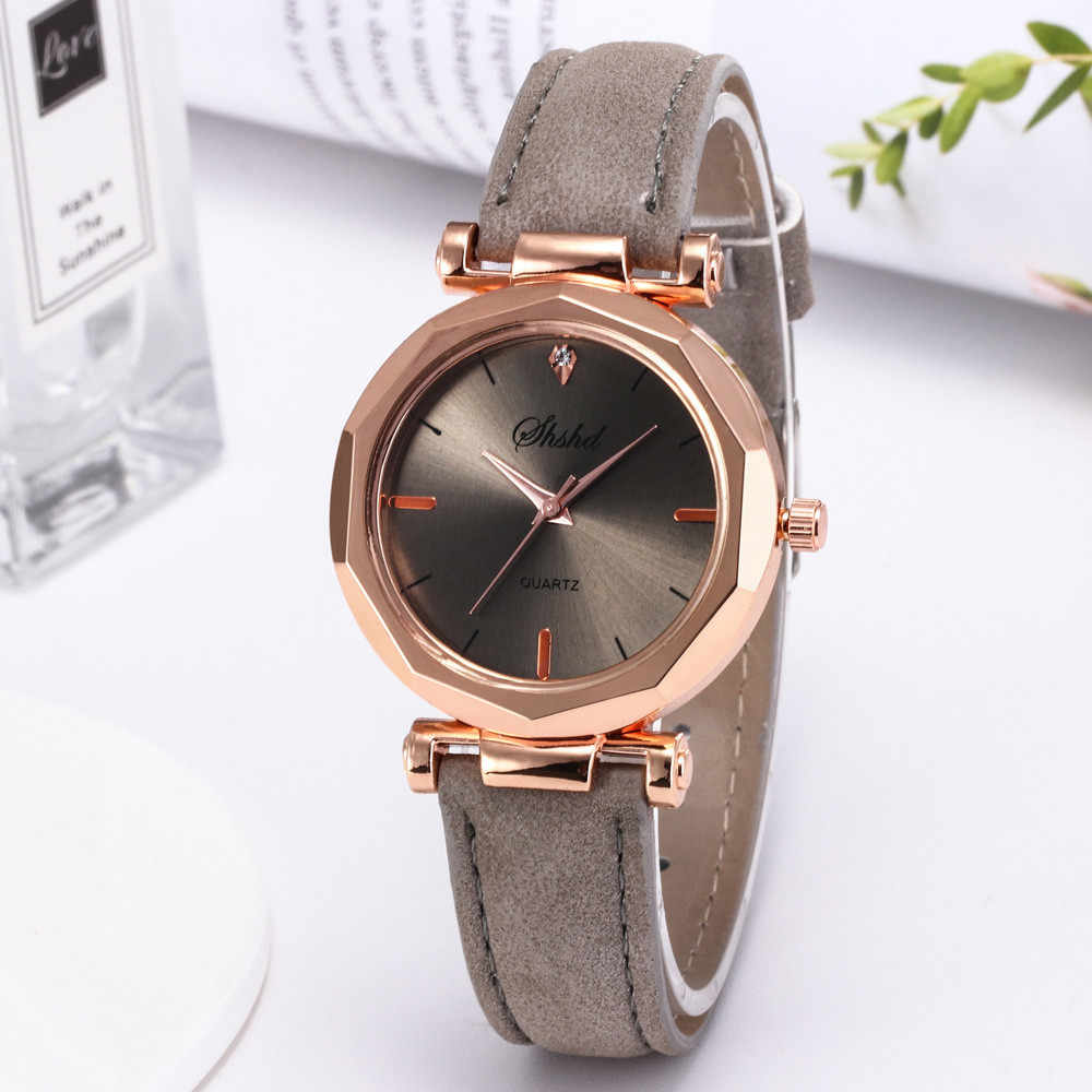 Women Watch Rhinestone Fashion Exquisite Women Leather Casual Watch Luxury Analog Quartz Crystal Wristwatch Bracelet Watch YE1