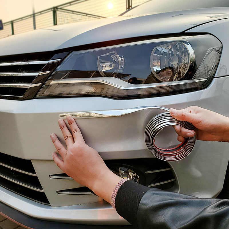 자동 크롬 몰딩 트림 스트립 자동차 도어 엣지 가드 수호자 실버 라인 창 범퍼 그릴 안티 충돌 스크래치 스티커
