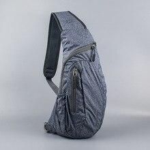 Мужская нагрудная сумка, нейлоновая, водонепроницаемая, для путешествий, Спортивная, через плечо, слинг, нагрудная сумка, для альпинизма, для мобильного телефона, сумка на пояс