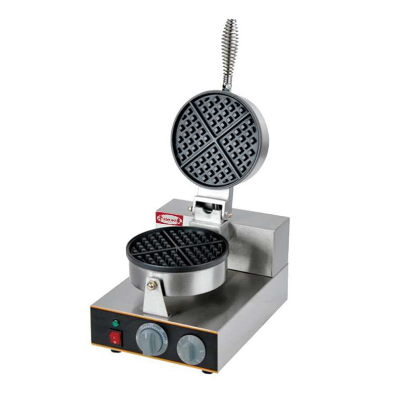 110V 220V 1300W Non-Stick Gas Waffle Maker Single Head With Timer For Commercial Ice Cream Skin Maker Machine EU/AU/BS/US Plug