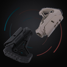 Nylon Stock GL CORE Style For Gel Blaster Paintball Airsoft Air Guns Accessories AEG Gen9 Gearbox Receiver Hunting