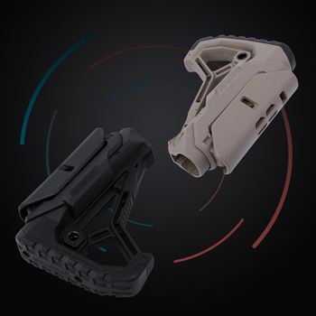 Nylon Stock GL-CORE Style For Gel Blaster Paintball Airsoft Air Guns Accessories AEG Gen9 Gearbox Receiver Hunting