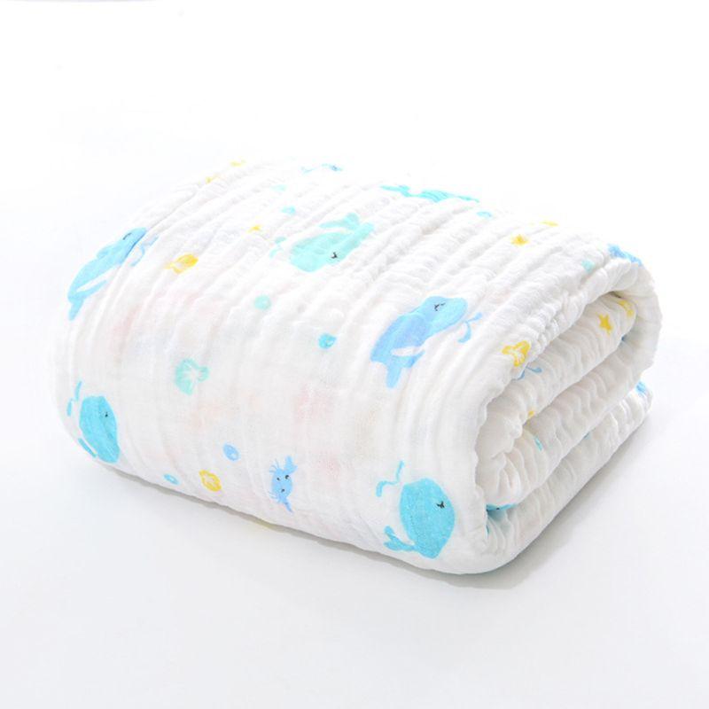 6 Layers Of Baby Washcloths Kids Bath Towel Muslin Cloth Bathrobe Wrap Blanket Superior Quality