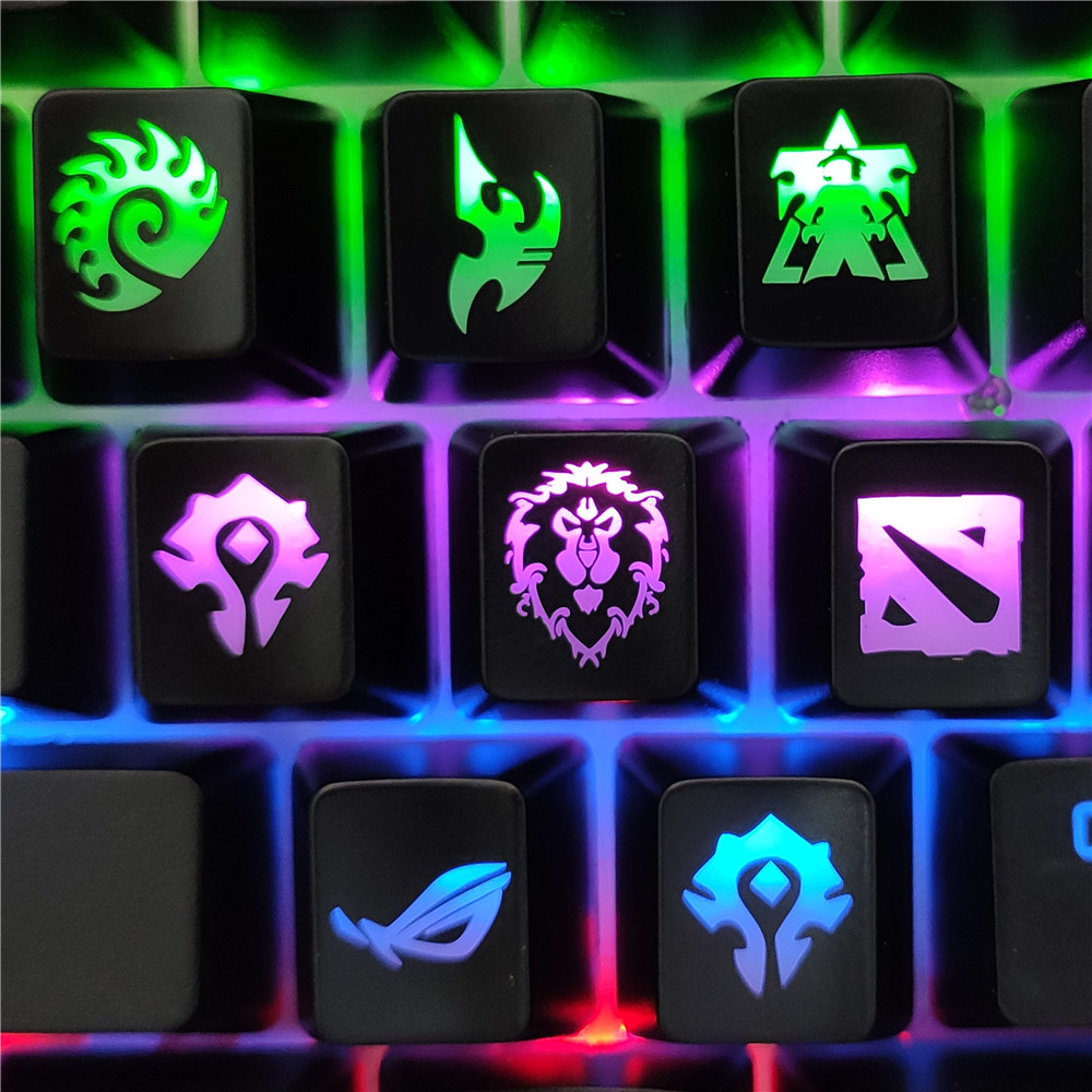 DIY Gaming Keycaps Mechanical Keyboard Cap Key Button For World Of Warcraft DOTA Starcraft Key Caps Game Keycap Mercy ABS Cap