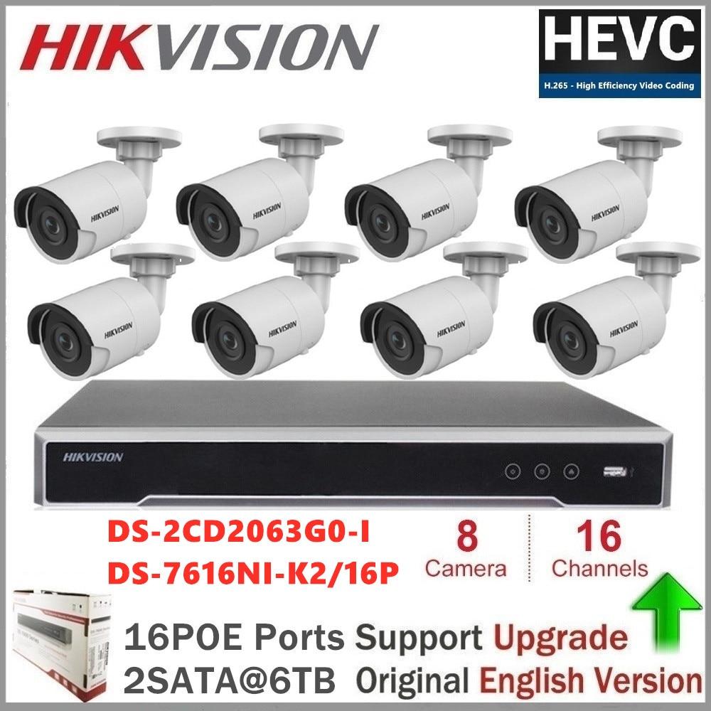 Hikvision CCTV Kamera Kits Video Überwachung 6MP Außen WDR Feste Mini Kugel Netzwerk Kamera System Remote View-in Überwachungssystem aus Sicherheit und Schutz bei title=