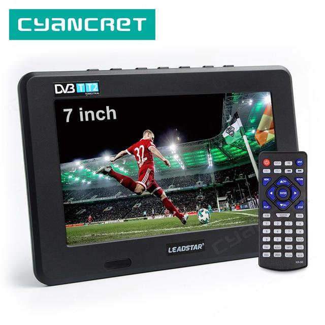 LEADSTAR D7 تلفزيون محمول DVB T2 ATSC ISDB T tdt 7 بوصة الرقمية التناظرية سيارة صغيرة صغيرة التلفزيون التلفزيون دعم USB TF MP4 H.265 AC3
