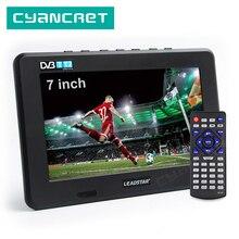LEADSTAR DVB T2 de TV portátil D7 ATSC ISDB T tdt, mini TV analógica Digital de 7 pulgadas para coche pequeño, compatible con USB, TF, MP4, H.265, AC3