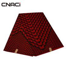 CNACI Free Shipping Ankara Fabric African Real Wax Print Tissu Batik 6 Yards/Bag