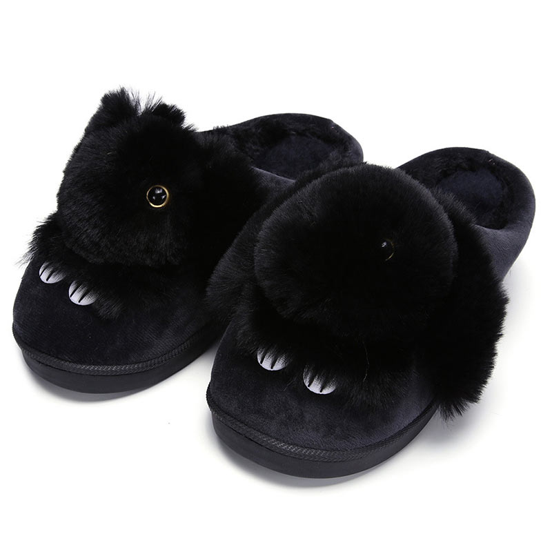 Fur Slides Winter Women Fluffy Slippers Ladies Home Slippers Cute House Indoor Shoes Floor Shoes Warm Plush Pantoufle Femme