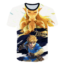 3D T-shirt Boy Girl Legend Game Tshirt 3D Print Breath of the Wild Boys/ Girls T Shirt Streetwear Zelda Tops the legend of zelda 3d night lights table lamp anime game breath of the wild visual illusion 3d led luces navidad dropshipping