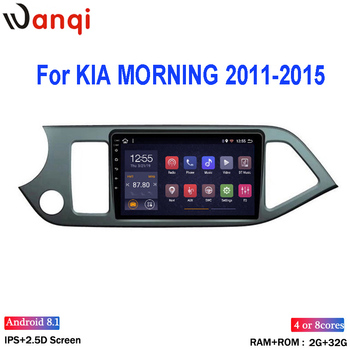 "Wan qi Android 8,1 9 ""reproductor Multimedia para 2011, 2012, 2013, 2014, 2015 KIA Picanto Morning Wifi Bluetooth Radio de coche GPS de navegación"