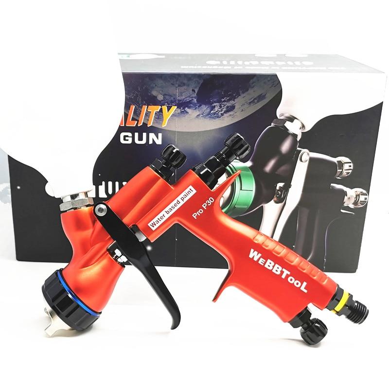 PRO P30 T110 Professional Automobile Spray Gun Water Based Paint Spray Gun  Light Magnesium Aluminum Perfect Atomization Sprayer