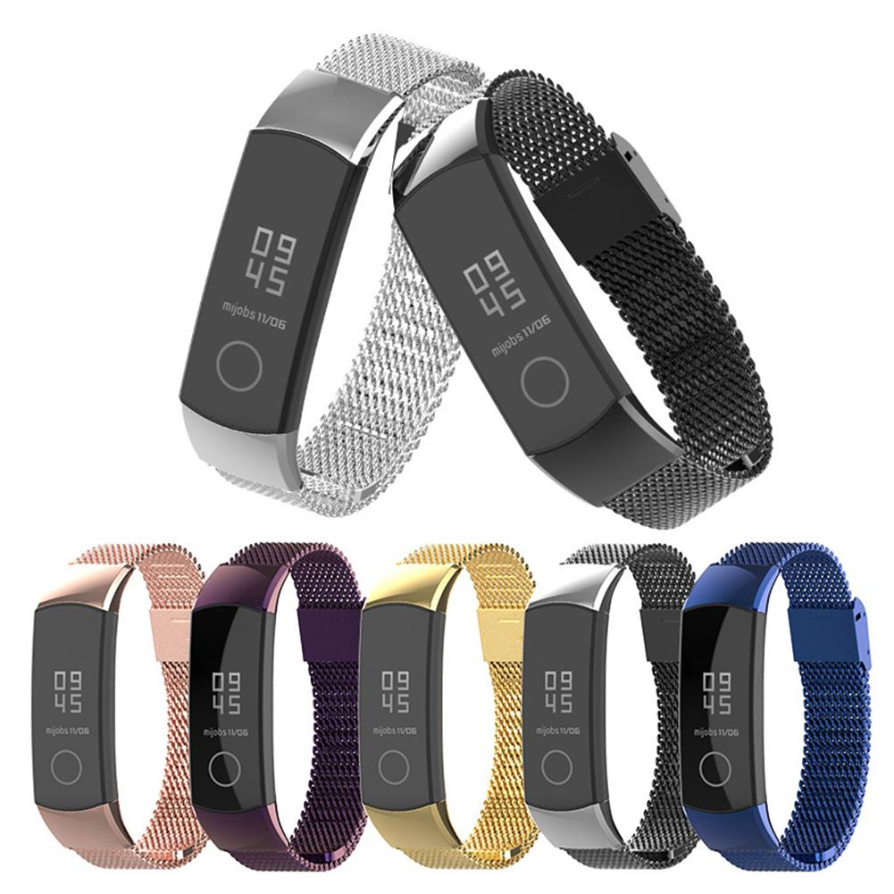 For Huawei Honor Band 4 5 Metal Strap Stainless Steel Band Bracelet For Honor Band 4 Smart Accessories Wristband Women Men