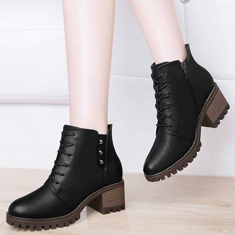Gucci Tianlun Martin Boots Women's British-Style Short Boots 2018 New Style Fashion WOMEN'S Shoes Retro Easy-matching Shoes Chil