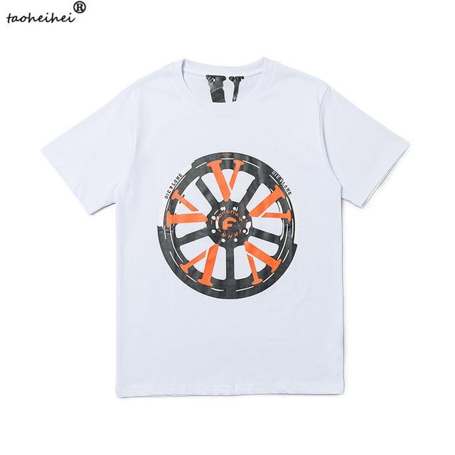 Vlone Wheel Print Short Sleeve T-Shirt 1