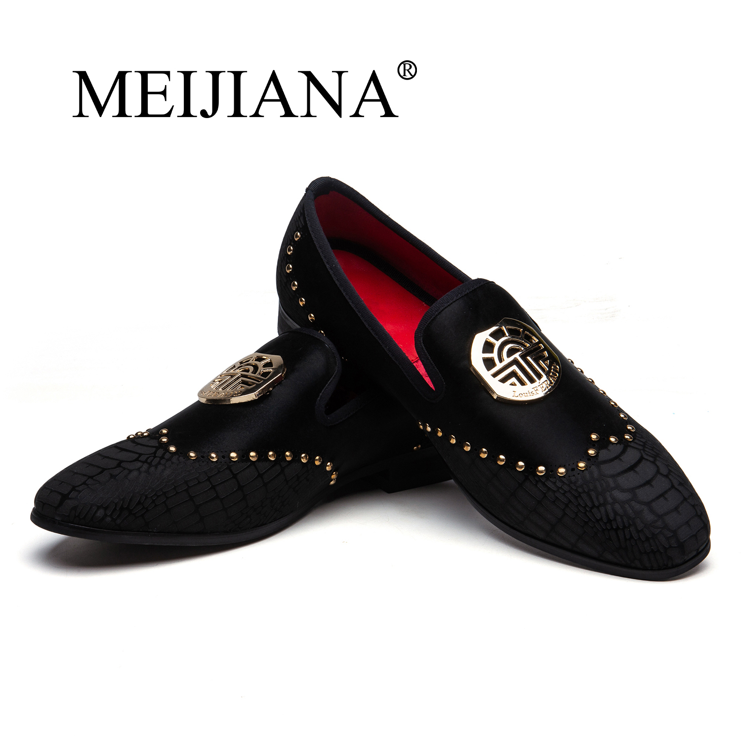 MEIJIANA Men Loafers Shoes Casual Shoes Fashion Loafers Men Luxury Handmade Luxury Black Wedding Shoes