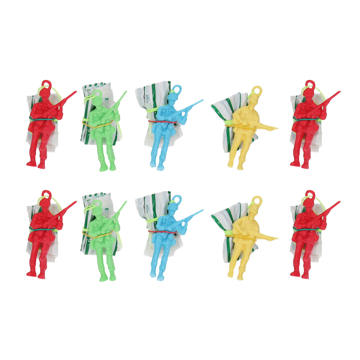 10Pcs Mini Hand Throwing Parachute Toy Educational Parachute Men With Figure Soldier Kids Outdoor Games Toy Random Color