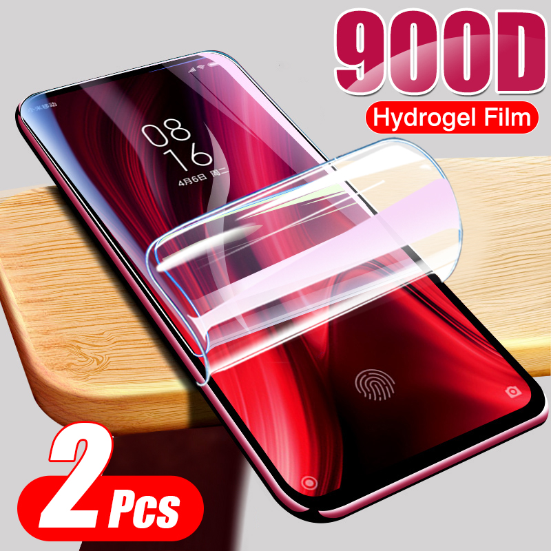 900D 2Pcs Hydrogel Protective Film Not Glass For Xiaomi Redmi Note 8 Pro 7 9S 8T 5 9 7A K30 Pro Full Cover Screen Protector Film(China)