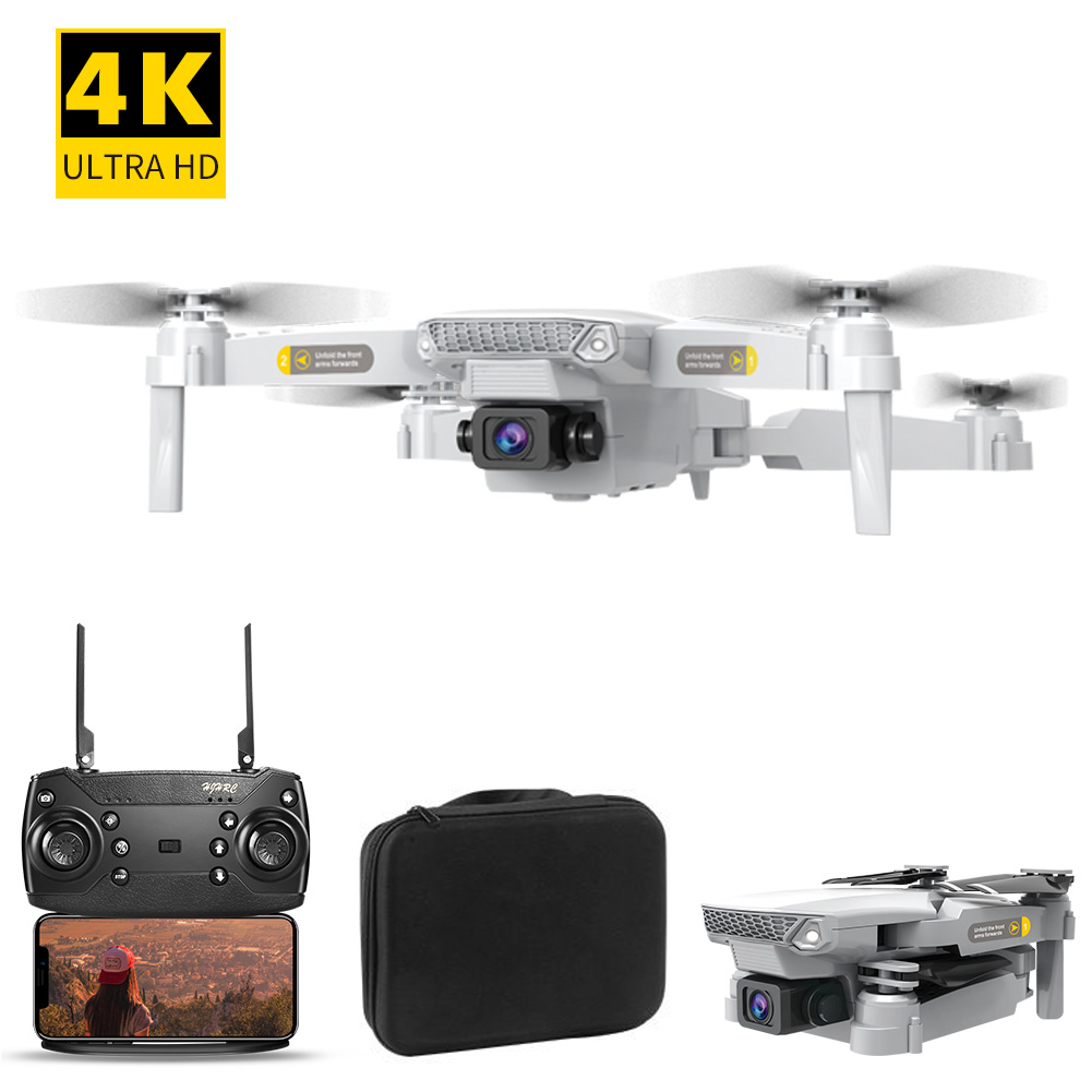 Gift USB RC Quadcopter Aerial Photography Mini Portable Training Toy Outdoor Headless Mode 4K HD 1800mAh Battery Foldable Drone