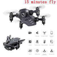 Mini Drone With Camera 15 Minutes Hd 720P 1080P Profissional Dron Folding Selfie Drone Long Flights Long Range Battery Life Toys