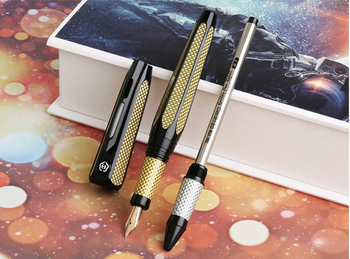 Ã�ーロー H712 Â�ペース 10 14k Â�ールド万年筆ローラーペンでリフィル 2 Ã�ッド黄金収集ギフトペン & Ã�ックスビジネスオフィス