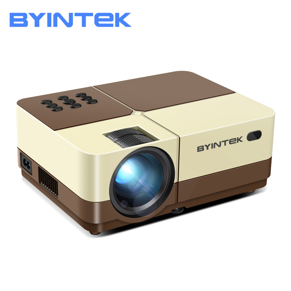 BYINTEK K7 Mini HD Projektor (Optional Android 10 <font><b>TV</b></font> Box),150 zoll Heimkino, tragbare LED <font><b>Proyector</b></font> für Telefon 1080P 3D image