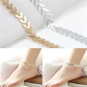 Women Boho Arrows Barefoot Foot Bracelet Jewelry Sandal Beach Anklet Chain 2020