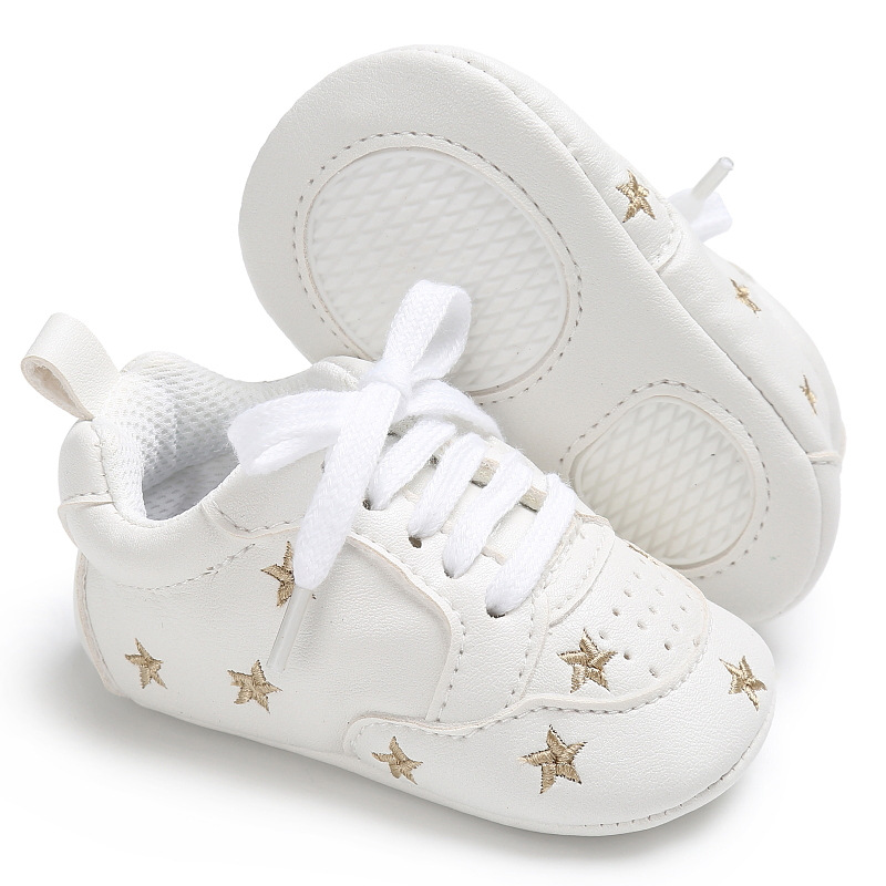 Casual Baby Shoes Infant Baby Girl Crib Shoes Cute Soft Sole Prewalker Sneakers Walking Shoes Toddler First Walker 5