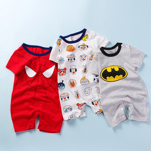 Baby Summer Onesies Clothes Boys Romper Superior Cotton Girls Jumpsuit Short Sleeve Spiderman Batman SpongeBob Infant Clothes