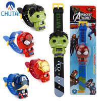 Neue Elektronische Kinder Spielzeug Uhr Die Avengers 3 Spiderman Hulk Ironman Starwars Abbildung Modell Spielzeug Kinder Weihnachten Geburtstag Geschenk