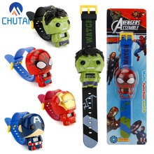 New Electronic Kids Toys Watch The Avengers 3 Spiderman Hulk Ironman Starwars Fi