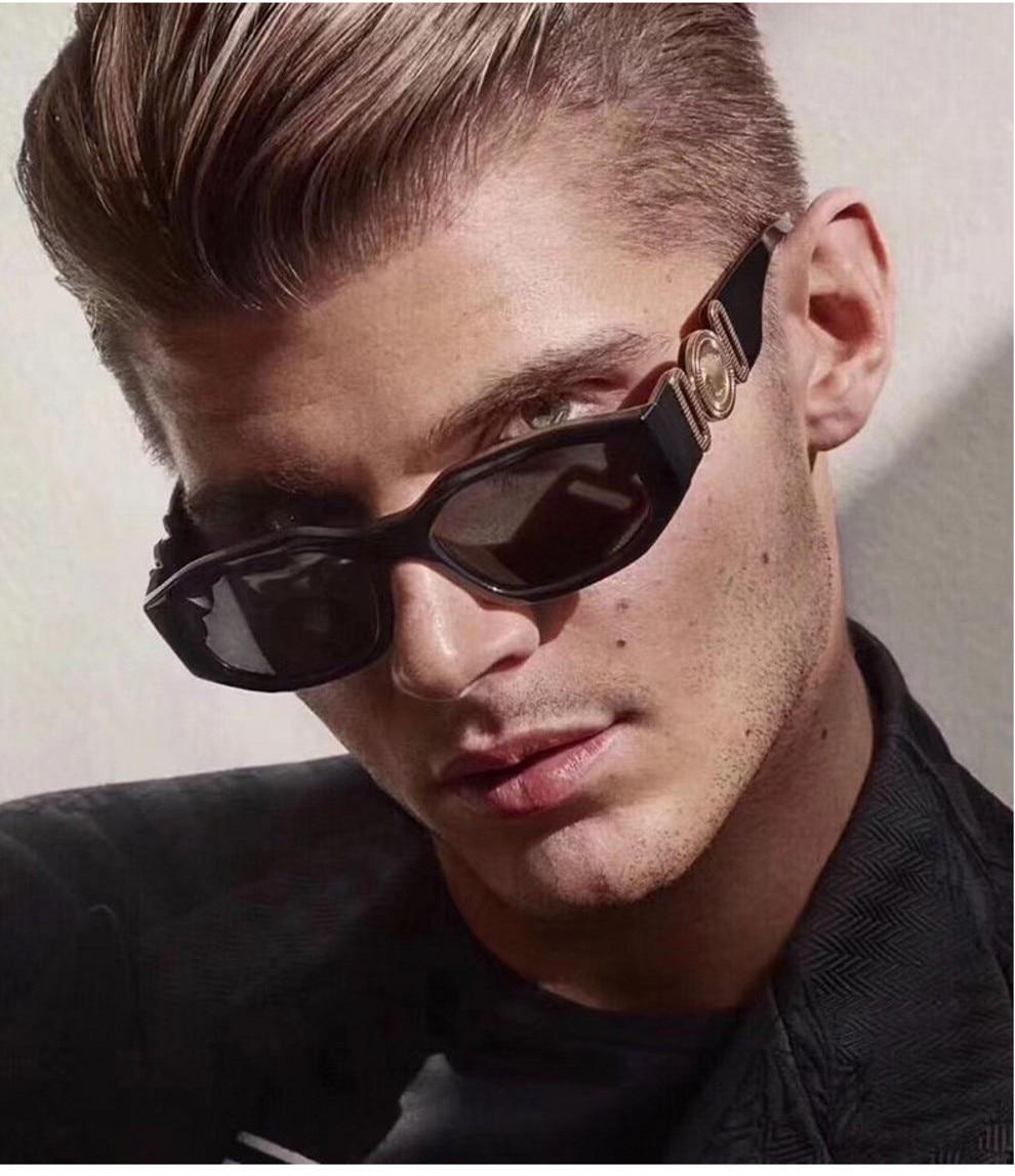 Small Steam Punk Sunglasses Men Women 2019 Luxury Brand Personality Irregular Square Ladies Vintage Eyeglasses UV400