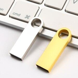 Реальная емкость 64 ГБ 32 ГБ 1 ГБ 4 ГБ 8 ГБ металлический USB флеш-накопитель Мини карта памяти Флешка фотография объемная гравировка Ваш логотип ...