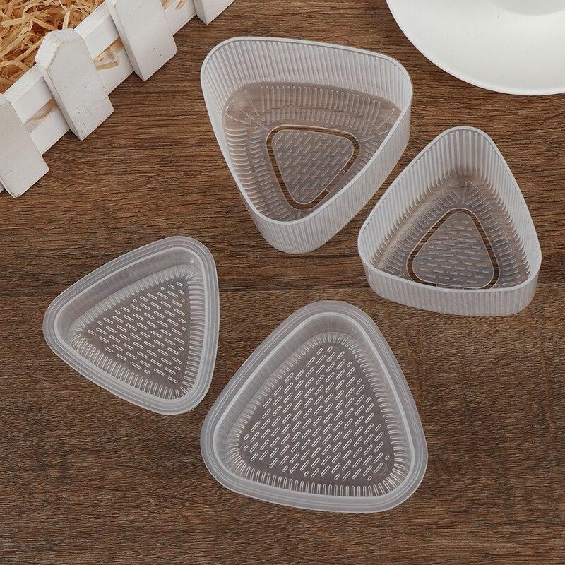 2 шт., прозрачная практичная кухонная форма-бэнто для украшения суши и онигири, форма для еды, треугольная форма, принадлежности для изготовл...