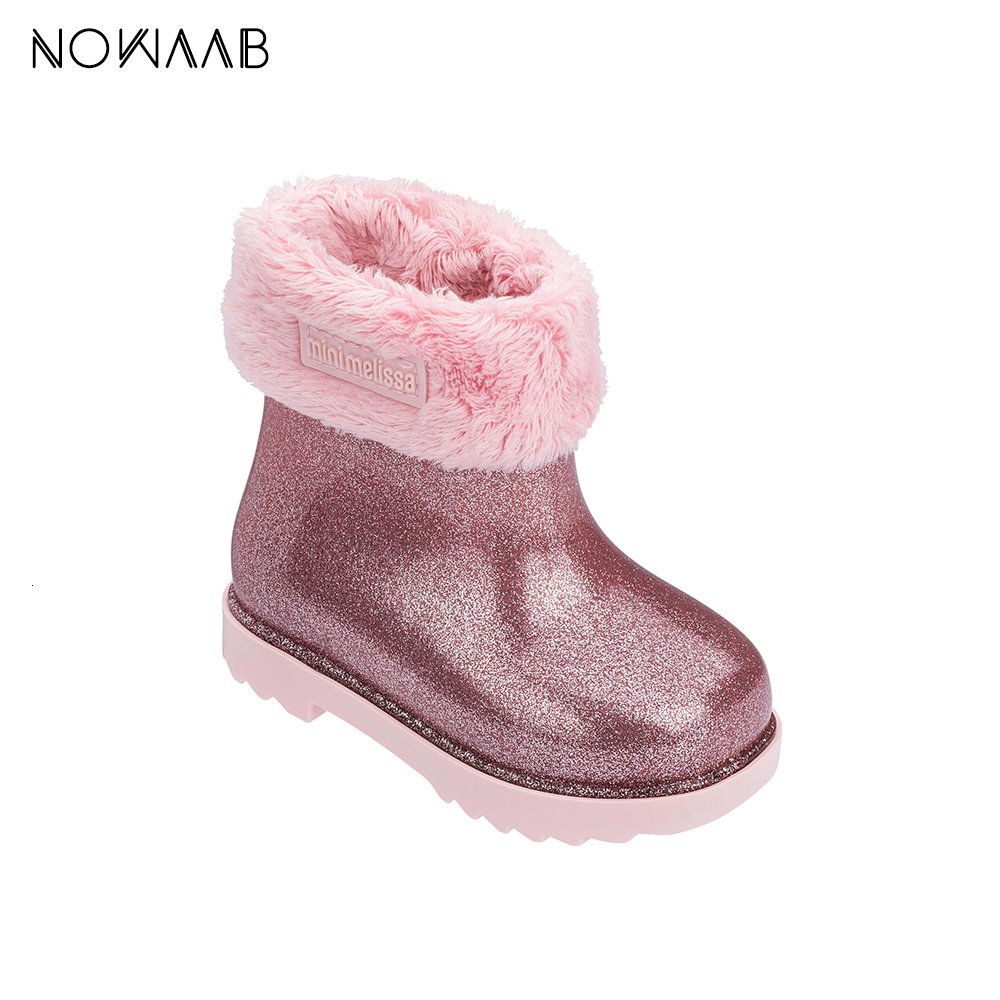 Mini Melissa Winter Warm Girl Boy Snow Boots For Children 2020 New Toddler Princess Child Shoes Non-slip Flat Girls Baby Lovely
