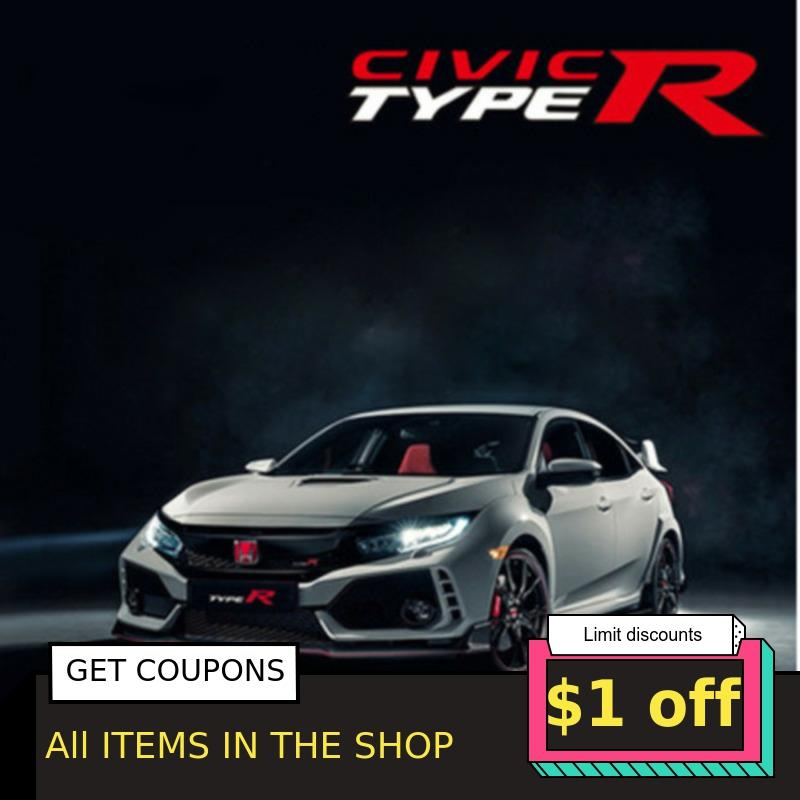 1/32 Civic Type R Alloy Luxury Cast Metal Model Six Doors Openable Sound And Light Simulation SUV Car Mini Toy