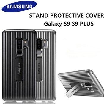Funda de teléfono de pie Samsung Galaxy S9 S9 + S9Plus, funda protectora completa resistente con soporte y armadura para Samsung Galaxy S9 S9 + con logotipo