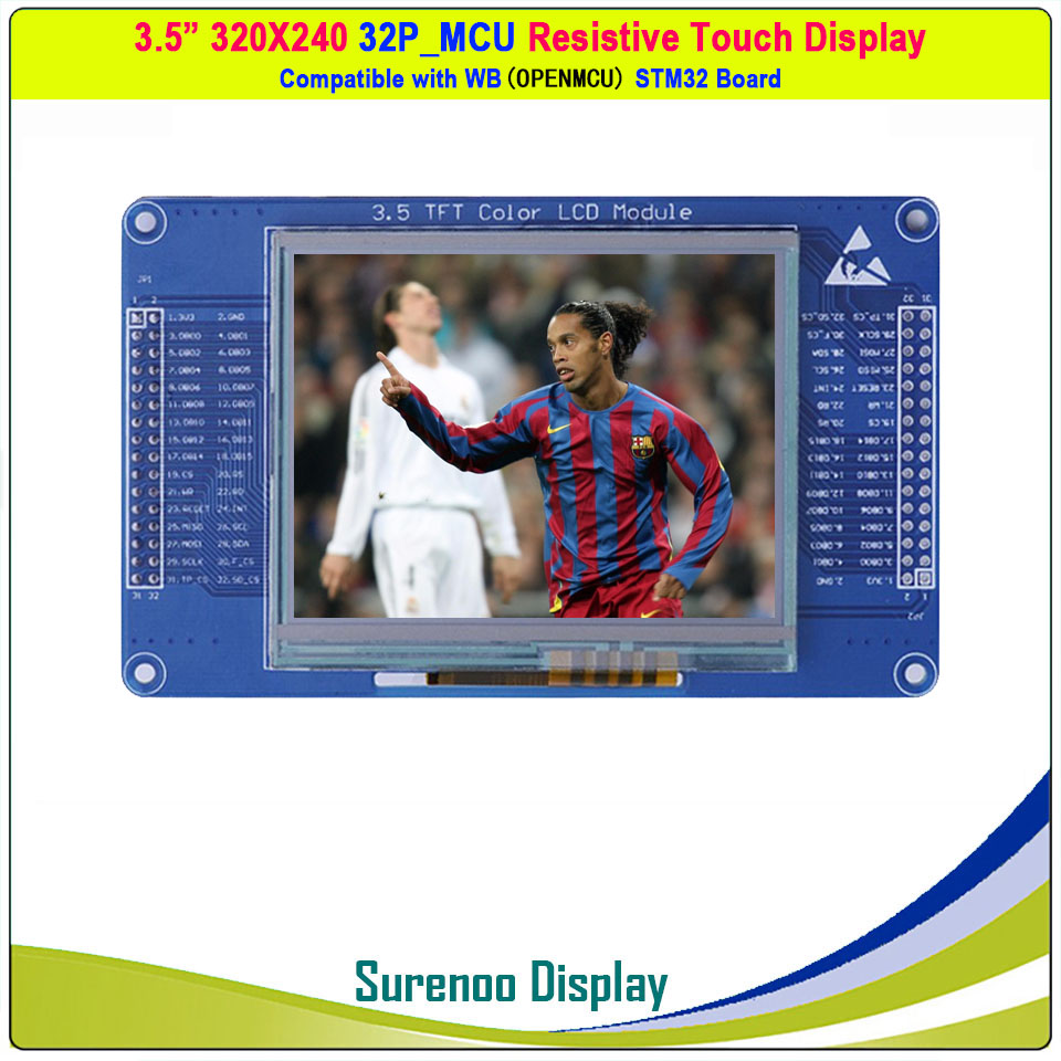 3.5 Inch 320*240 SSD2119 32P_16Bit MCU Parallel Resistive Touch TFT LCD Module Display Screen Panel Support SPI