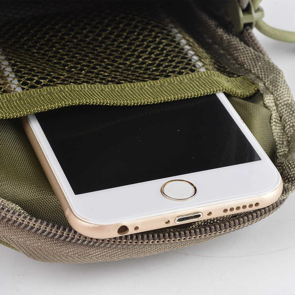 Ao ar livre tático saco de cintura para homens escalada militar hip cintura cinto com telefone celular titular coldre bolsos camuflagem novo