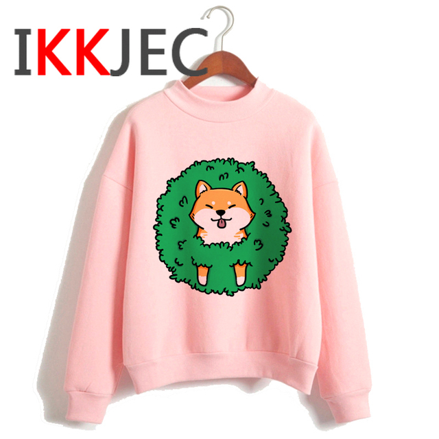 Shiba Inu Kawaii Dogs Funny Cartoon Grunge Aesthetic Hoodies Women Ladies Harajuku Cute Anime Sweatshirt Streetwear Hodoy Female 5
