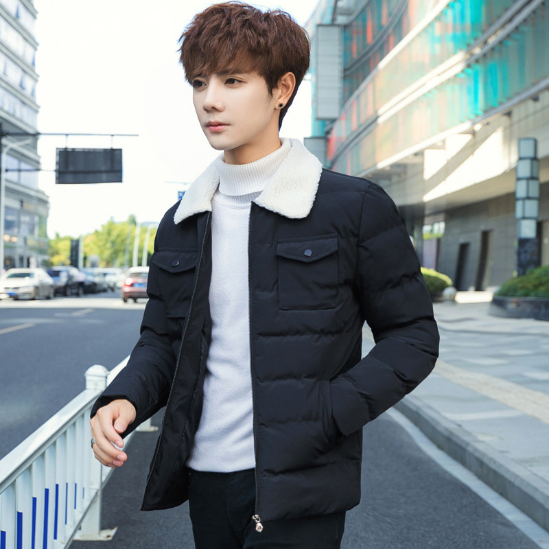 Cotton-padded Clothes Men Winter Coat    New Style Brushed And Thick Men'S Wear Cotton-padded Jacket Winter Clothes Coat Down