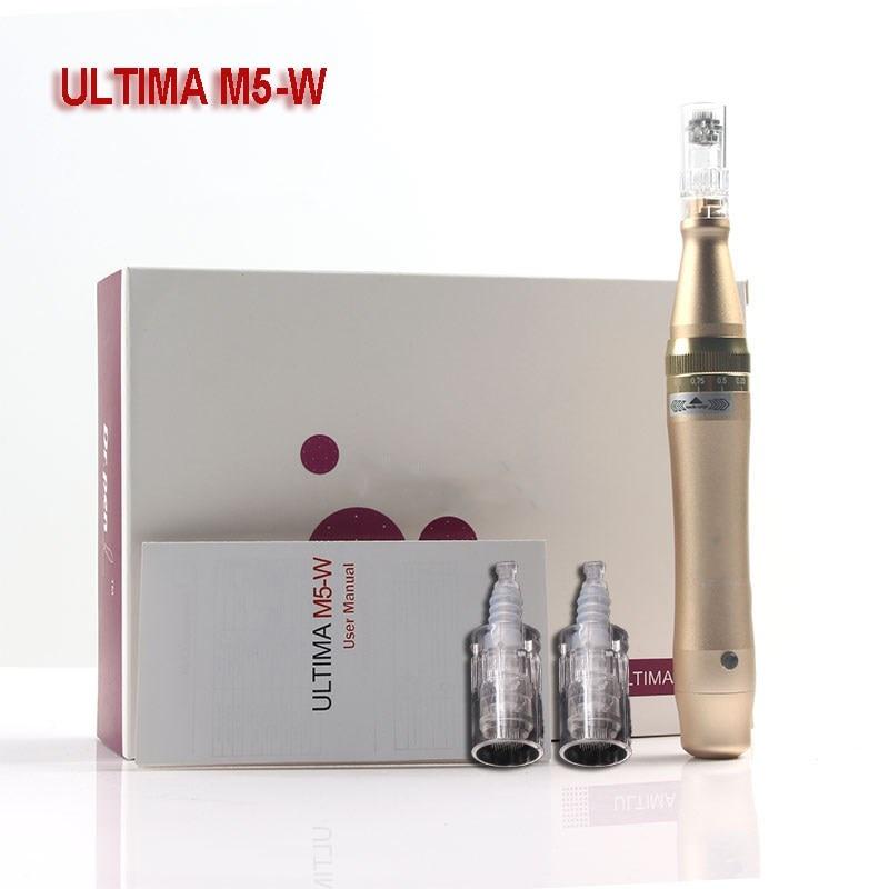 Derma Pen Wireless Ultima M5-W Microneedling Pen Bayonet Prot Needle Cartridges Derma Pen For Skin Care Microneedle Therapy MTS