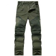 Pantalones de senderismo extraíbles para hombre, ropa impermeable, transpirable, para exteriores, para acampar y Trekking, de secado rápido, para primavera y verano
