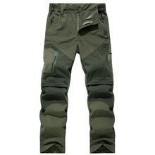 Spring Summer Pants Mens Quick Dry Removable Hiking Pants Outdoor Breathable Waterproof Trousers Men Camping Trekking Shorts