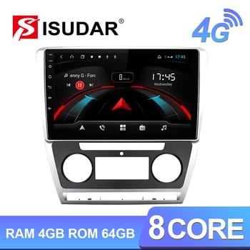 Isudar H53 4G Android 1 Din Auto Radio For Skoda Octavia 2009 2010 2011 2012 2013 Car Multimedia GPS Octa Core RAM 4GB ROM 64GB