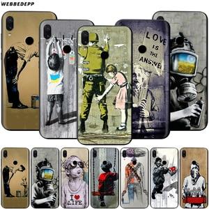 Street Art Banksy Graffiti Case for Xiaomi Redmi Note 8 MI 3 6 8 9 A1 A2 A3 8A 6X 9T CC9 Lite SE Pro Max F1 10(China)
