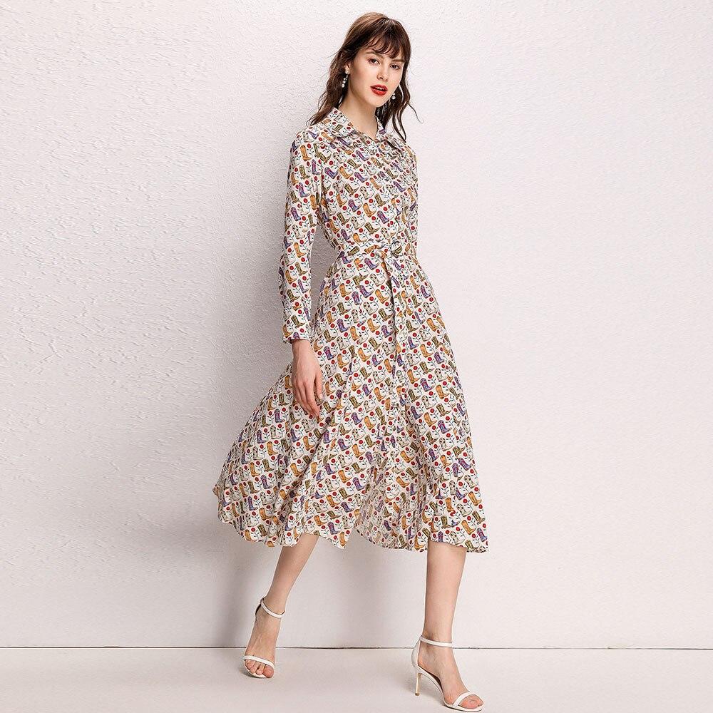 CAMIA automne femme robe sandro nouvelles bottes de cowboy imprimer motif robes longues robe femme