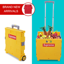 E-FOUR Rolling Utility Cart Folding and