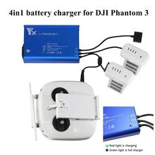 4 in 1 Parallel Power Hub Intelligent Battery Controller Charger for DJI Phantom 3 Standard Professional Advanced SE FPV Drone car charger 17 5v 4a 70w for dji phantom 4 professional advanced battery rc173 2018 g6kc